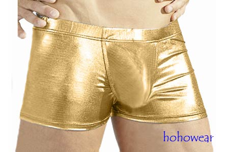 Golden Mens Shiny Metallic Boxer Shorts Underwear #326