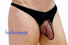 Sexy Men's Stretchy Net Pouch Thong Underwear